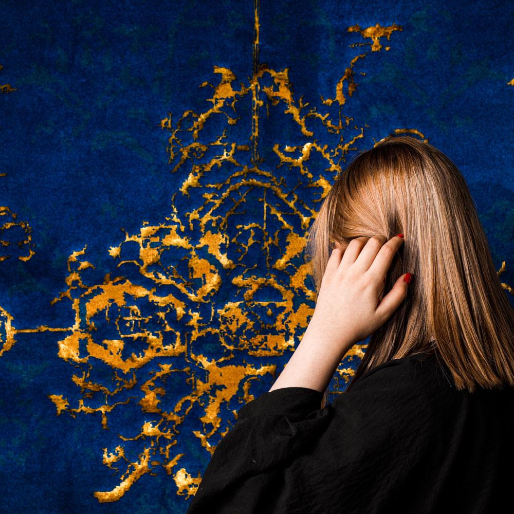 Design Nil Blau Der Bergamotte