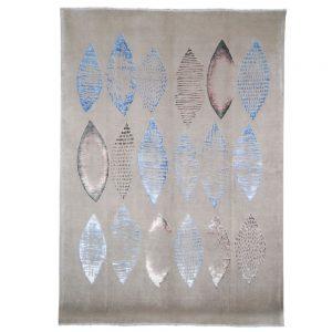 Design Parvaneh Blau Die Seidenkokons
